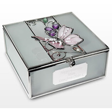 Personalised Butterfly Trinket Box