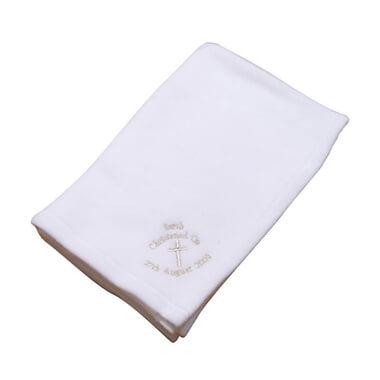 Personalised Christening Cross Blanket