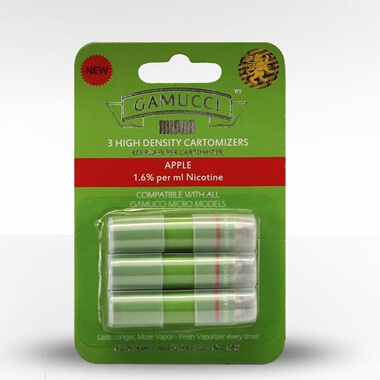 Gamucci Micro Cigarette 3 Cartomizer Refill Pack - Apple