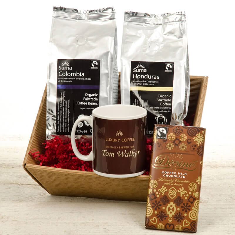 Personalised Coffee Hamper - 40th Birthday Gifts For Him