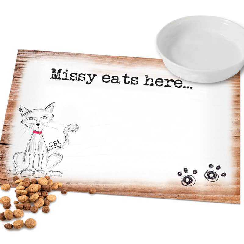 Personalised Cat Placemat
