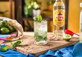 Preparazione Mojito Basil Twist Havana Club