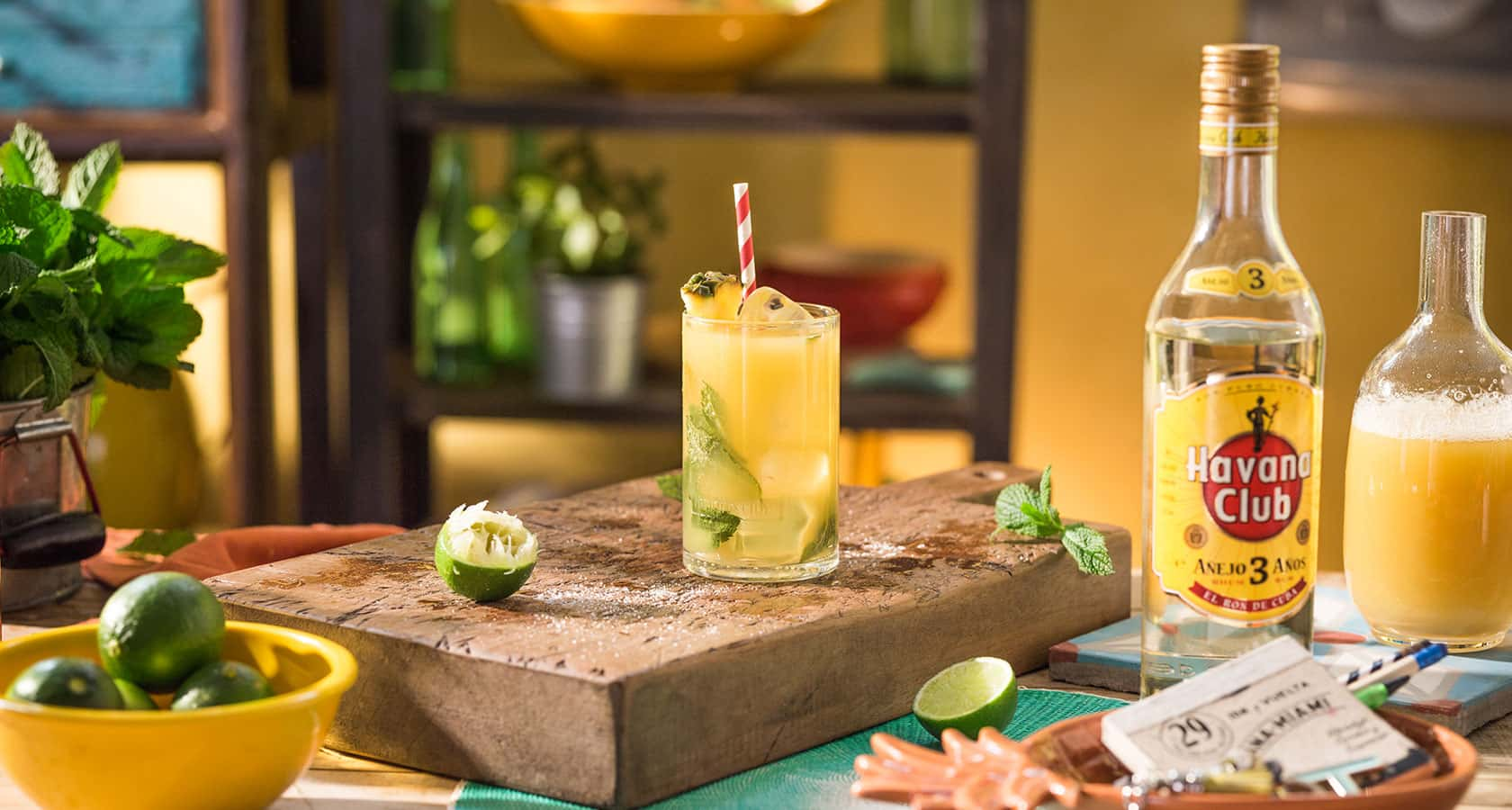 Mojito pineapple recipe rum cocktails havana club for Cocktail havana club
