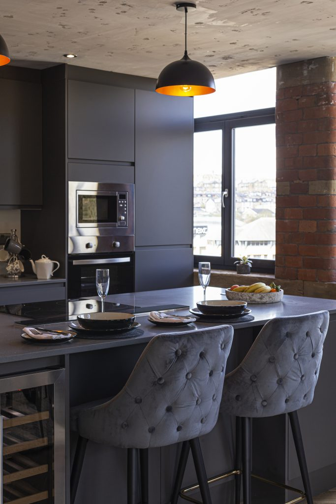 Interior design of The Penthouse at Conditioning House