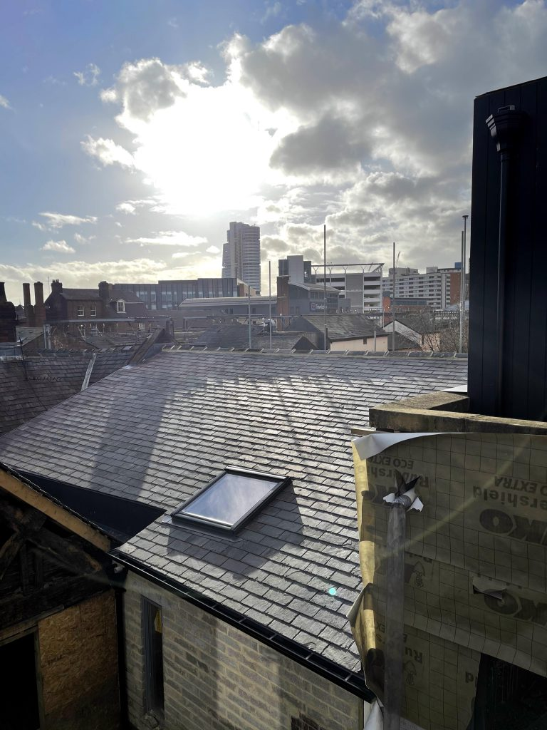 View from lamberts yard new roof garden