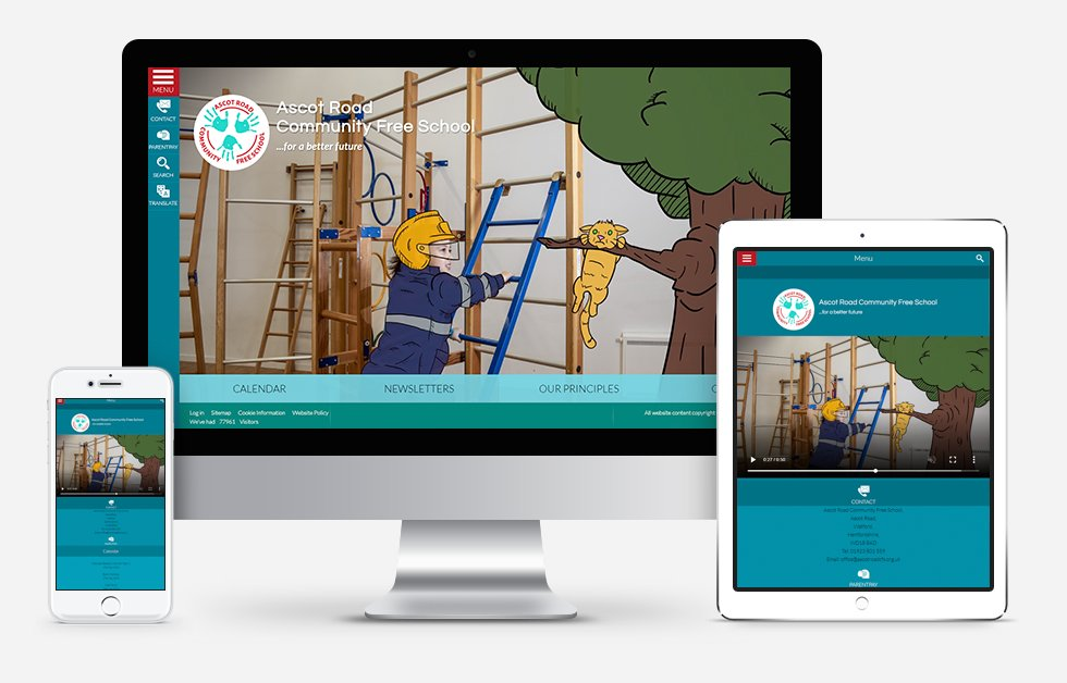 Website Design For Ascot Road Community Free School