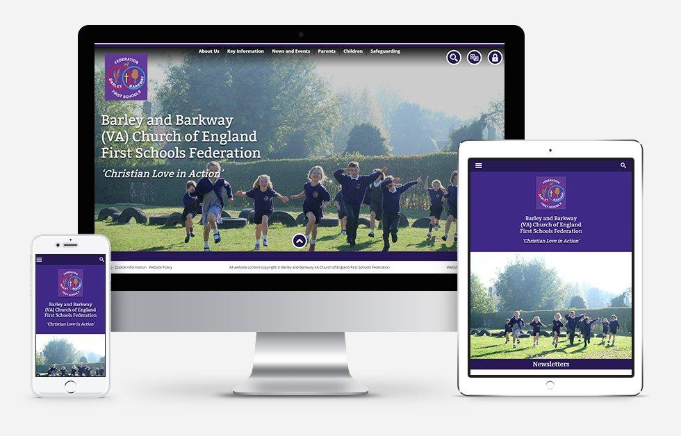 Barley and Barkway (VA) Church of England First Schools Federation Website Design