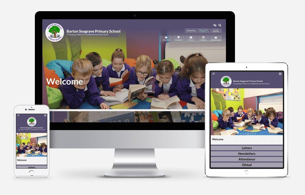 New Website Design For Barton Seagrave Primary School
