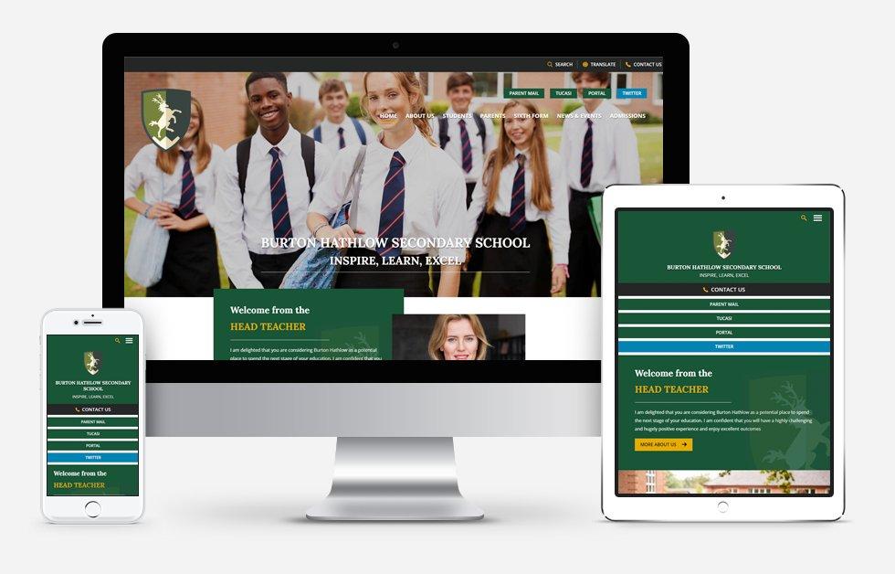 Website Design For Burton Hathlow Secondary School