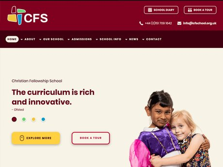 New Website Design For Christian Fellowship School