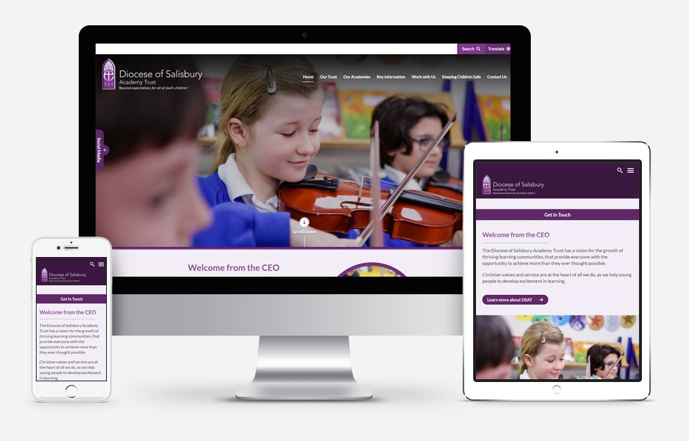 Website Design For Diocese of Salisbury Academy Trust