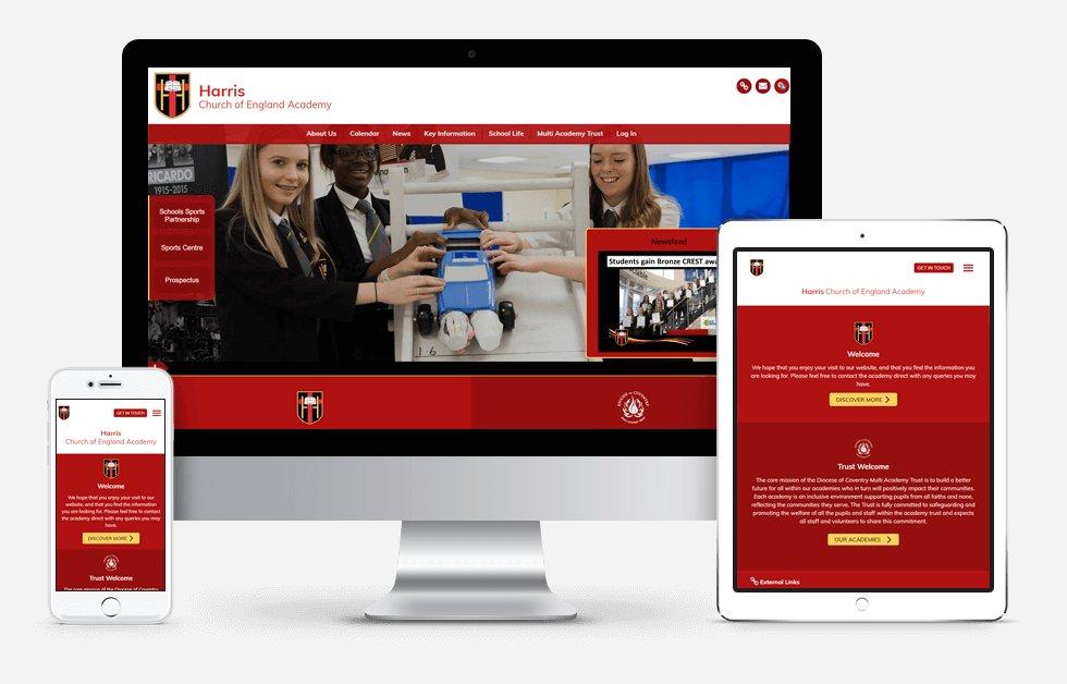 Harris Church of England Academy Website Design