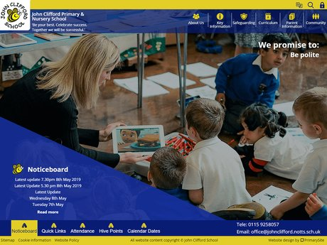 Website Design For John Clifford Primary & Nursery School