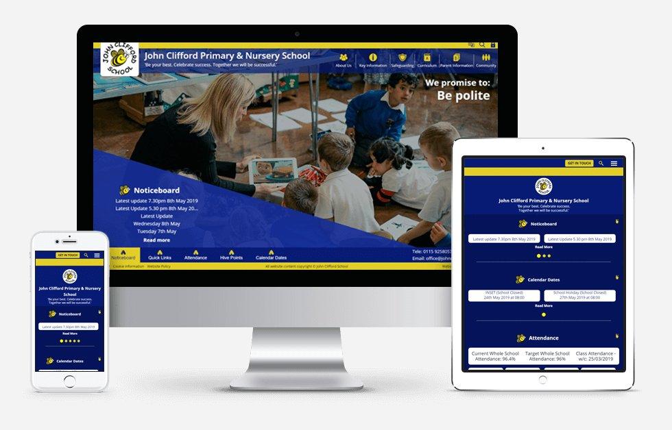 John Clifford Primary & Nursery School Website Design