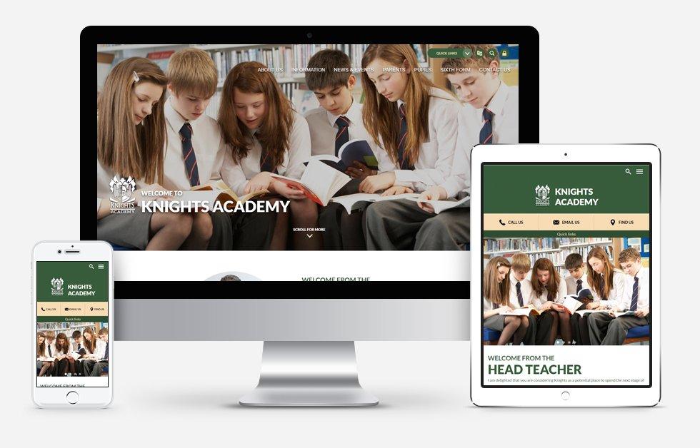Website Design For Knights Academy