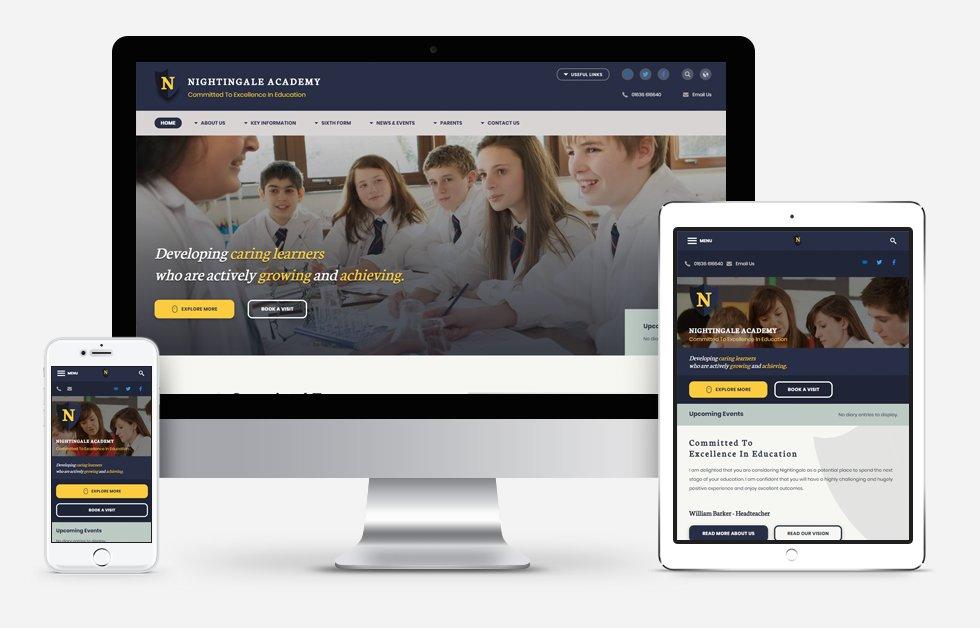 Website Design For Nightingale Academy