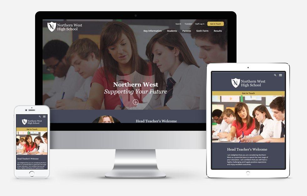 Northern West High School Website Design
