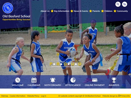 Old Basford School Website Design