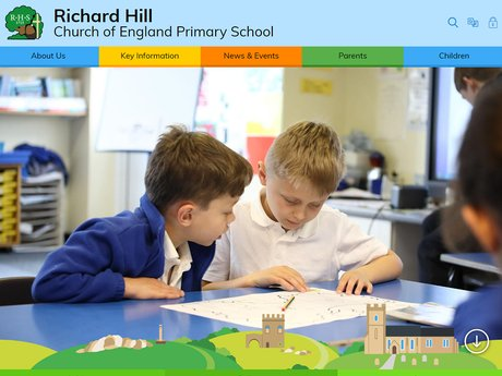 New Website Design For Richard Hill  Church of England Primary School