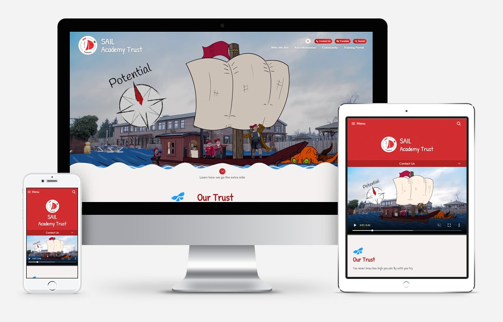 New Website Designed For  SAIL Academy Trust