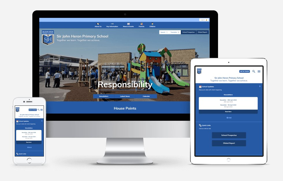Sir John Heron Primary School Website Design