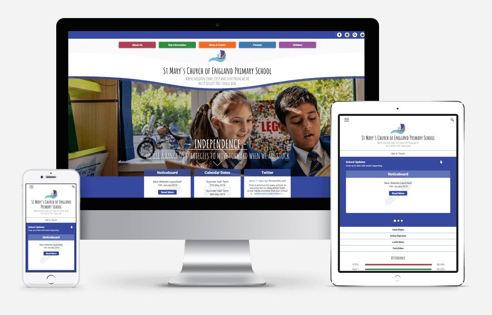 St Mary's Church of England Primary School Website Design