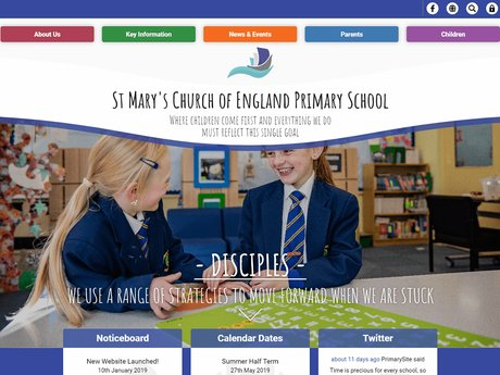 New Website Design For St Mary's Church of England Primary School