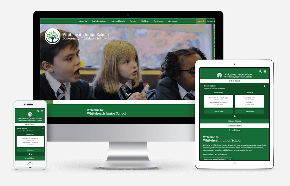 New Website Design For Whiteheath Junior School