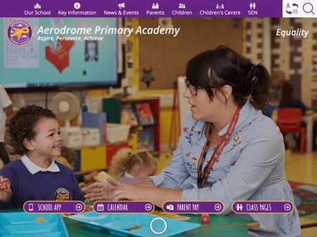 New Website Design For Aerodrome Primary Academy
