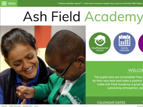 Ash Field Academy Website Design