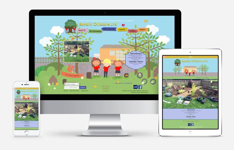 Website Design For Bambini Child Care