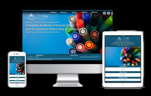 Faringdon Academy of Schools website design