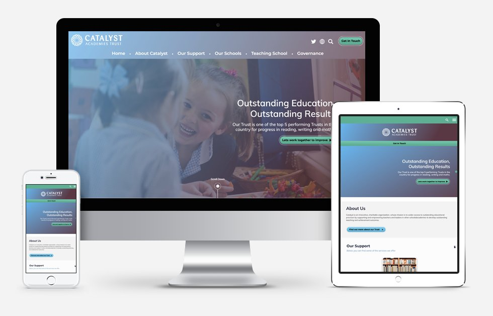 New Website Designed For Catalyst Academies Trust