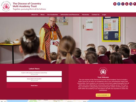 Coventry Multi Academy Trust Website Design