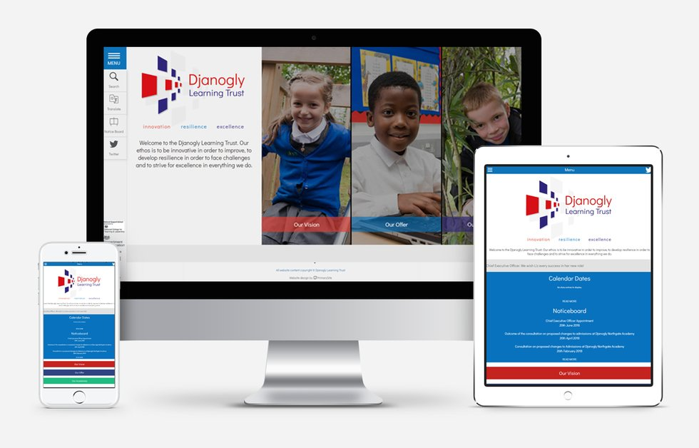 Djanogly Learning Trust Website Design