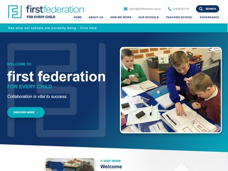 New Website Designed For First Federation