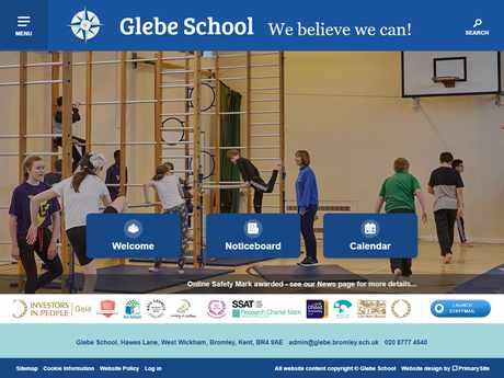 Glebe School website design