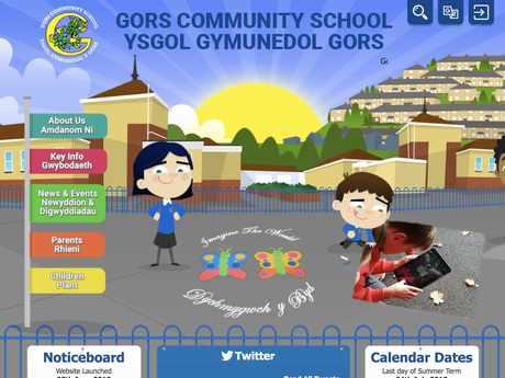 Gors Community School website design