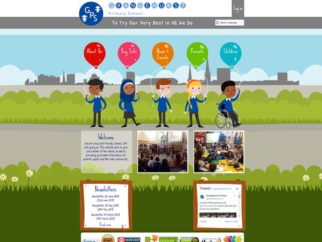 Grangehurst Primary School website design