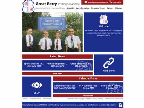 Great Berry Primary Academy website design