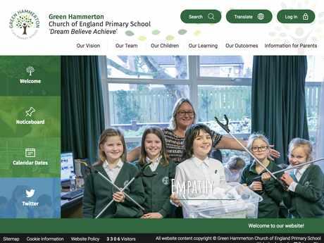 Green Hammerton Primary School website design