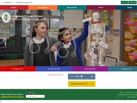 Hawbush Primary School website design