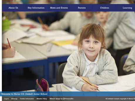 Herne CE Junior School website design