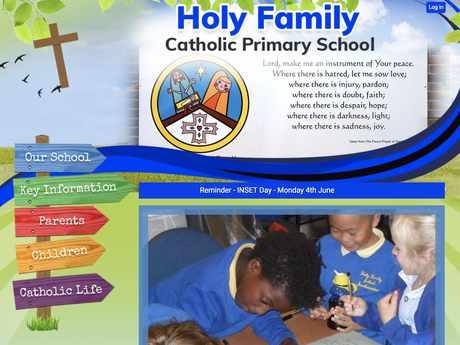 Holy Family Catholic Primary School website design