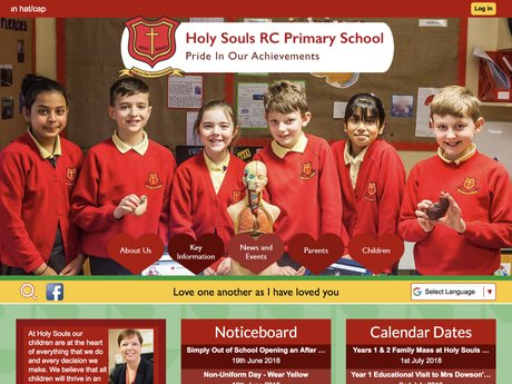 Holy Souls RC Primary School website design