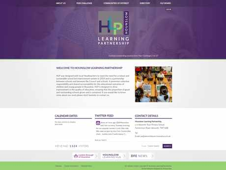 Hounslow Learning Partnership website design