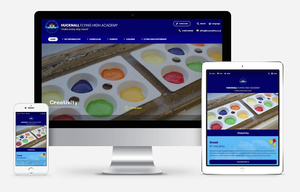 Hucknall Flying High Academy Website Design
