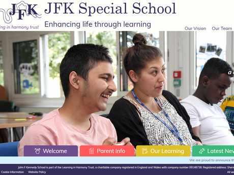 JFK Special School website design