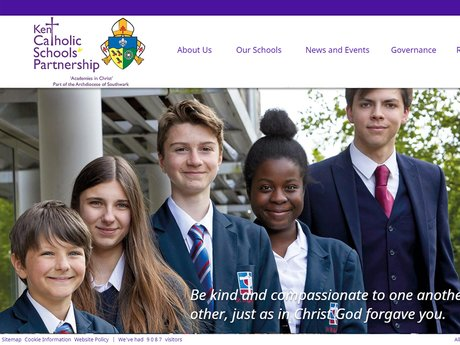 Kent Catholic Schools Partnership website design
