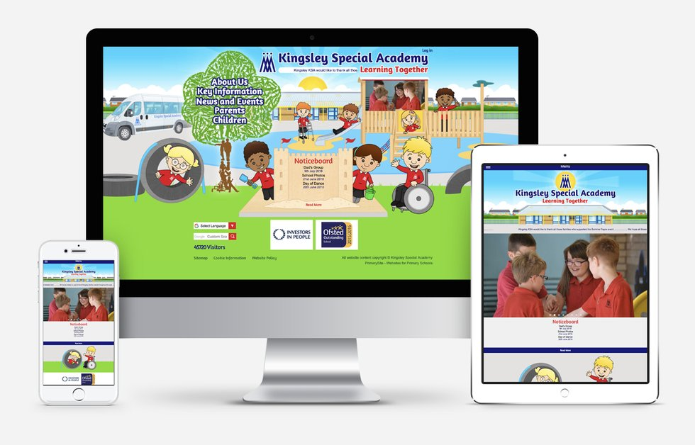 Kingsley Special Academy Website Design